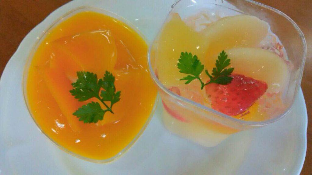 マンゴームースとフルーツゼリー