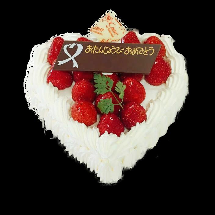 ハート型デコレーションケーキ